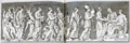 Plate111 from Wincklemann Monumenti antichi inediti 1767 Marriage of Peleus and Thetis from Roman sarcophagus in Villa Albani ca 350 AD cropped resized white-balanced.png