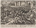 Plate 9- The Romans Defeated by the Dutch Troops at Bonna, from The War of the Romans Against the Batavians (Romanorvm et Batavorvm societas) MET DP862868.jpg