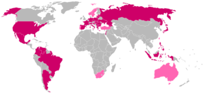 This map shows the countries where Playboy mag...