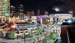Kansas City Power & Light District - Image: Pld pano cropped