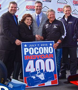 """Randy Bernard - Pocono Raceway and IndyCar announce the return of the """"Tricky Triangle"""" to the IndyCar schedule starting in 2013. This was Randy Bernard's last public appearance as IndyCar's CEO. He was terminated 27 days later."""