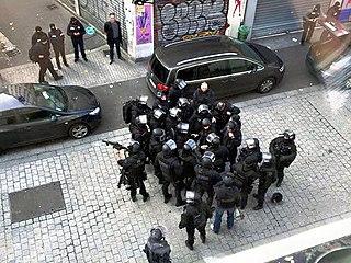 police raid following the Paris terrorist attacks