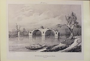 Pont Ambroix - Image: Pont d'Ambrussium Lith Thierry Freres