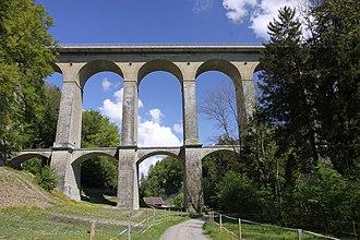 Villars-sur-Glâne - Image: Pont de la Glâne 2 May 2011