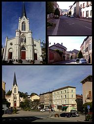 Views of Pontcharra-sur-Turdine, including the church