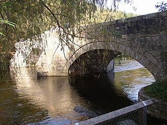 Storm Desmond - Pooley Bridge at Pooley Bridge, Cumbria washed away on 6 December.  The bridge had stood since 1764.