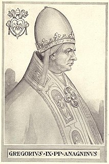 Pope Gregory IX 178th Pope