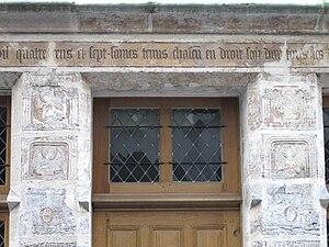 House of Nicolas Flamel - Image: Porte de l'auberge de Nicolas Flamel