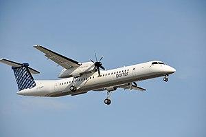 Porter Airlines - Porter Airlines Dash-8 at landing at Montréal-Trudeau airport