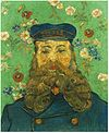 Portrait of the Postman Joseph Roulin (1889) van Gogh Kroller.jpg