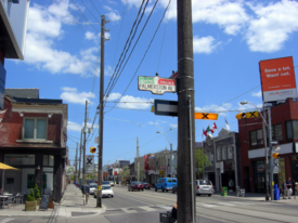 Street view of Little Portugal, Toronto.