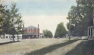 Amherst, New Hampshire - Post Office Square in 1910