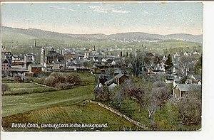 Bethel, Connecticut - Image: Postcard Bethel CT Birdseye View Circa 1910