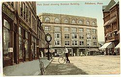 PostcardDowntownAttleboroMA1909