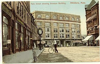 Attleboro, Massachusetts - Downtown, about 1909