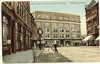 Attleboro, Massachusetts - Downtown, about 1909