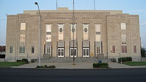 Pottawatomie County Courthouse in Shawnee