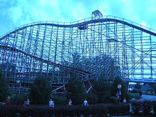 Predator (roller coaster) Wooden roller coaster at Six Flags Darien Lake