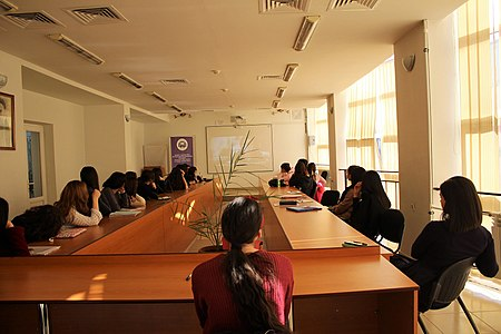 Presentation about WMAM projects at Yerevan Brusov State University of Languages and Social Sciences 01.jpg