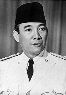 Sukarno First President of the Republic of Indonesia