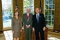 President George W. Bush and Mrs. Laura Bush with National Humanities Medal Recipient John Updike.jpg