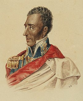 Jean-Pierre Boyer, President of Haiti. Haiti was the first state to recognise the Greek independence. President Jean-Pierre Boyer of Haiti (Hispaniola Unification Regime) Portrait.jpg