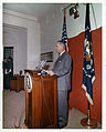 President Johnson speaks before audience 1963.jpg