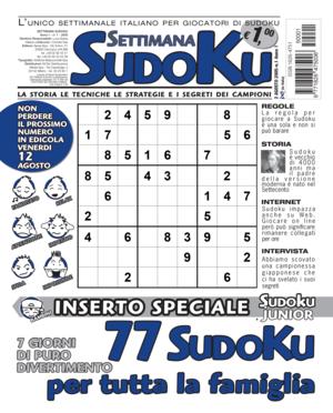 La copertina del primo numero di Settimana Sudoku