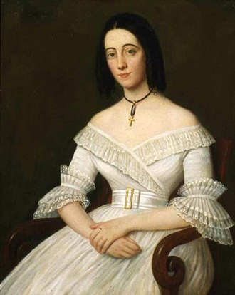 Catherine Willis Gray - Close-up of portrait at the DAR Museum in Washington, DC.