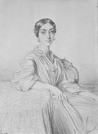 Cristina Trivulzio Belgiojoso - Portrait of princess Christine de Belgiojoso by Théodore Chassériau (Petit Palais, musée des Beaux-arts de la Ville de Paris)