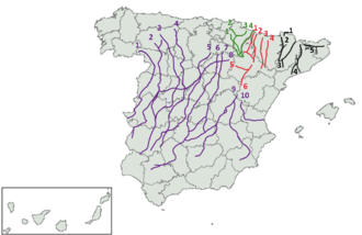 Mesta - The principal drove roads of Spain.