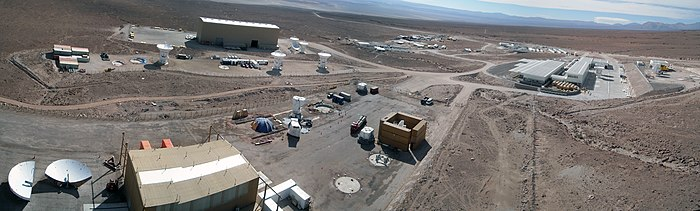 Progress at the ALMA Operations Support Facility - a panoramic view.