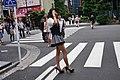 Promotional maids being arrayed in Akiba South Ura street (2015-06-14 05.18.56 by Franklin Heijnen).jpg