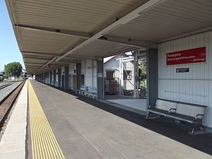 Proserpine railway station - Northbound view in January 2013