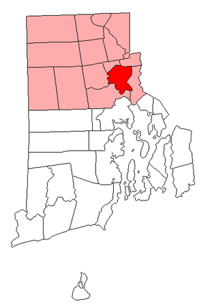 National Register of Historic Places listings in Providence, Rhode Island - Location of Providence in Providence County, Rhode Island