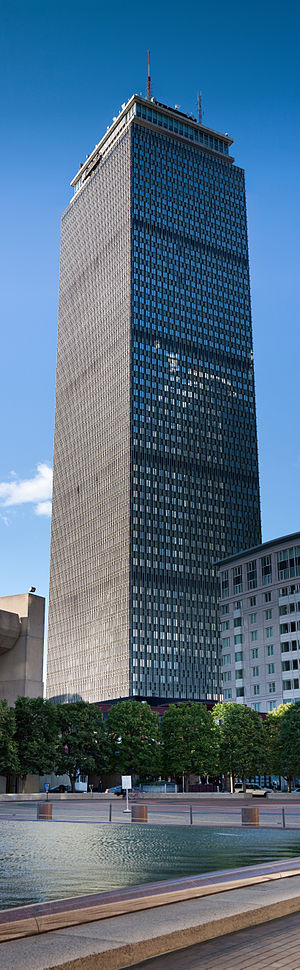 Prudential Tower - Vertical panoramic view of the Prudential Tower