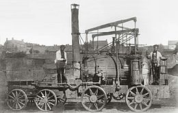 La locomotive Puffing Billy en 1862.