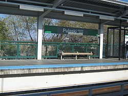 The Pulaski station on the Green Line.
