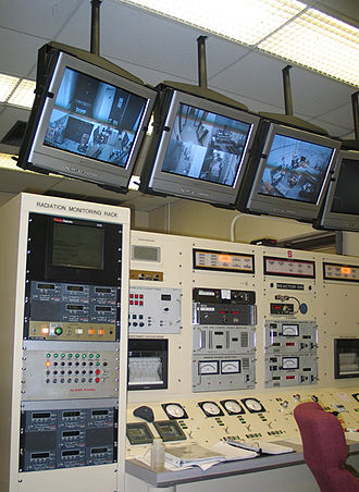 Pool-type reactor - The control room of NC State's Pulstar Nuclear Reactor.