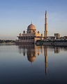 Putra Mosque being reflected in the lake.jpg