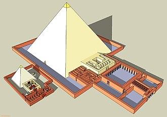 Pyramid of Khentkaus II - Location of the pyramid complex of Khentkaus II within the pyramid complex of Neferirkare