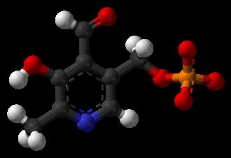 Pyridoxal phosphate - Image: Pyridoxal phosphate 3D balls