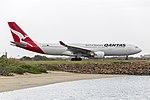 Qantas (VH-EBS) Airbus A330-202 taxiing at Sydney Airport.jpg