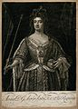 Queen Anne, holding an orb and a sceptre. Wellcome V0048358.jpg