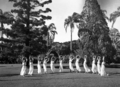 Queensland State Archives 2429 Display of eurythmics by students of the Teachers Training College 21 April 1937.png
