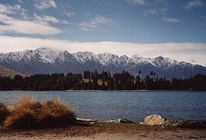 The Remarkables - The Remarkables and Lake Wakatipu from Queenstown.