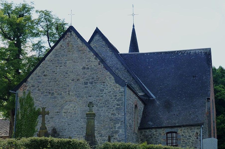 L'église de la Nativité-de-la-Sainte-Vierge. à   Quiévelon.-  Nord.- France.