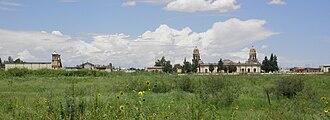 Creel-Terrazas Family - The Quinta Carolina in Chihuahua, looking north.