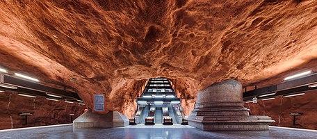 Rådhuset (Court House) underground metro station in Kungsholmen, Stockholm.