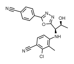 Selective androgen receptor modulator - Image: RAD140 structure